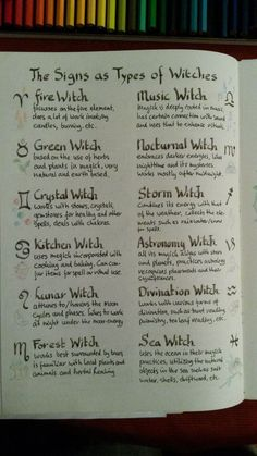 zodiac signs and types of witches - witchcraft - Yorgo Angelopoulos Witch Spell Book, Witchcraft Spell Books, Magick Spells, Green Witchcraft, Types Of Witchcraft, Healing Spells, Grimoire Book, Witchcraft For Beginners, Wicca For Beginners