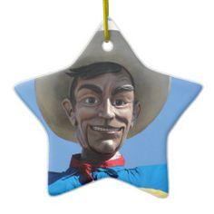 BIG TEX the biggest cowboy in Texas Christmas Ornaments  #texas #cowboy #bigtex #statefair