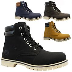 NEW MENS COMBAT WALKING HIKING WINTER MILITARY ARMY WORK ANKLE BOOTS SHOES SIZE  | eBay