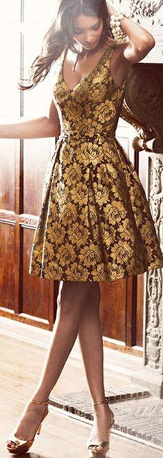 Farb-und Stilberatung mit www.farben-reich.com - Theia Floral Lace Party Dress  jaglady