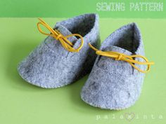 WATSON Felt Baby Shoe Pattern.  This listing is for a printable PDF pattern that…