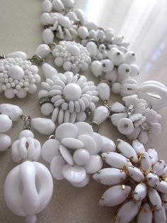 #white milk glass necklace