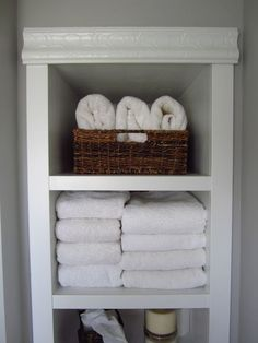 """Obtain terrific tips on """"laundry room storage diy shelves"""". They are actually offered for you on our site. Bathroom Mirror Storage, Bathroom Closet, Laundry Room Storage, Closet Storage, Bathroom Ideas, Master Bathroom, Bathroom Small, Bath Ideas, Bathroom Updates"""