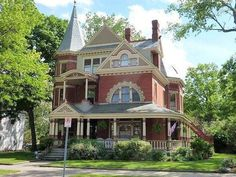 1894 Queen Anne Victorian, Hamilton, OH 45011 Victorian Architecture, Beautiful Architecture, Beautiful Buildings, Beautiful Homes, Victorian Buildings, Classical Architecture, Fancy Houses, Old Houses, Abandoned Houses