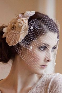 Wedding Hairstyles with Veil and Blusher #weddinghairstyles