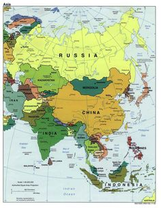 asia map Asia