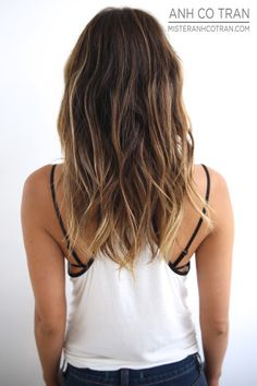 Textured waves and color beach hair