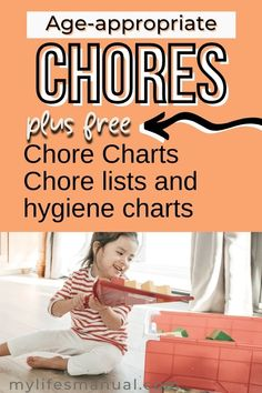 Age-appropriate chores teach kids personal responsibility, setting goals, achieving them and learning essential life skills that can definitely help them when they get older. In this post, you'll learn age-appropriate chores for kids and how to get kids to do chores. Chore List For Kids, Age Appropriate Chores For Kids, Good Work Ethic, 3 Year Olds, Household Chores, Setting Goals, Life Skills, Getting Old, Teaching Kids