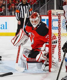 NEWARK, NJ - FEBRUARY 14: Cory Schneider #35 of the New Jersey Devils skates against the Colorado Avalanche at the Prudential Center on February 14, 2017 in Newark, New Jersey. The Devils defeated the Avalanche 3-2. (Photo by Bruce Bennett/Getty Images)