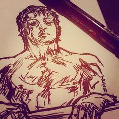 Sylvester Stallone, Rocky - Sketch N Kustom Design   Mark Bernard's Website