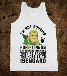 Running to Isengard. - Fitness Galore - Skreened T-shirts, Organic Shirts, Hoodies, Kids Tees, Baby One-Pieces and Tote Bags