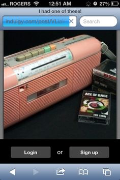 I had one like this, with a double tape deck though lol