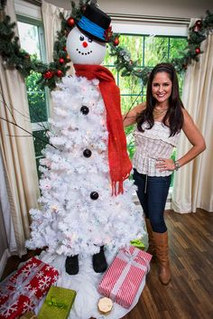 @tmemme28 repurposes a fake tree into Frosty The Tree Man! #frosty #christmas #christmastree #homeandfamily #homeandfamilytv