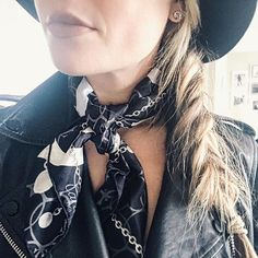 @justlikegillian Scarf detail  Something that will never go out of style. (I snagged this one from Century 21 for a steal) #cartier #scarf #c21style