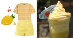You Pretty Much Need These 14 Novelty Bags to Complete Your Next DisneyBound Look | Dole Whip-inspired outfit + Kate Spade pineapple purse | [ http://di.sn/6000B7fNi ]