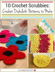 10 Crochet Scrubbies: Crochet Dishcloth Patterns to Make - spice up your kitchen with these great scrubbie patterns