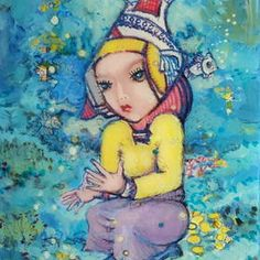 Ginnies World by Atanas Karpeles. Original artwork for sale $420 USD. Atanas was Born in Varna, Bulgaria. Earned a Masters Degree in Fine Art from the Academy of Fine Arts, Sofia, Bulgaria in 1979. See more on his ArtInvesta gallery http://www.artinvesta.com/artist/44