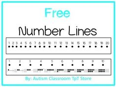 3 free number lines. (One page document with 3 types.)1-101-201-20 with ten frames