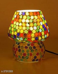 LED Lights & Lamps Multicolor Hand Decorative With Colorful Beads & Chips Glass Table Lamp  Product Type : Table Lamp  Material : Glass Cord Length:-60 inch Shade Length:-14 cm Description : It Has Set Of 1 Glass Table Lamp Country of Origin: India Sizes Available: Free Size   Catalog Rating: ★4.1 (1646)  Catalog Name: Multicolor Hand Decorative With Colorful Beads & Chips Glass Table Lamp Vol 2 CatalogID_531387 C103-SC1416 Code: 053-3791269-048