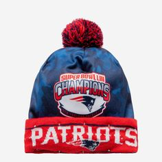 *SEP* *SEP* It's time to celebrate a championship from head to toe. This New England Patriots Super Bowl LIII Champions Light Up Printed Beanie can help with the head part. Shine on like the beacon of championship awesome you are. Features On/off switch activates blinking LED lights on brim so you can brighten up the room Championship logo on front of shell to keep the celebration going Super Bowl logo on back of shell to commemorate the big game Team logo on brim so everyone knows who you're ro Bowl Logo, Patriots Game, Time To Celebrate, Big Game, New England Patriots, Light Up, Team Logo, Celebration
