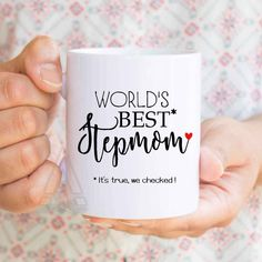 Mothers Day Gift Stepmom Worlds Best Funny Coffee Mugs Birthday For Stepmother