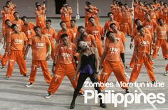 Remember that Michael Jackson thriller flash mob type of dance number? Philippines Tourism, Smiling People, Tourism Department, Visayas, Dance Numbers, Michael Jackson Thriller, Mindanao, Filipino, Prison