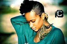 Awesome artistry in this hairstyle and the earrings are bananas. #OfficiallyNatural #Braids #NaturalHair