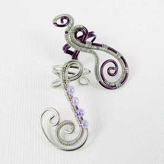 #DIY #Jewelry: Woven Freeform Swirly Ear Cuff