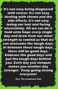 Quote from a Cancer Survivor