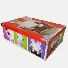 Goodies Les Lapins Crétins: Boite de rangement en carton Les Lapins Crétins