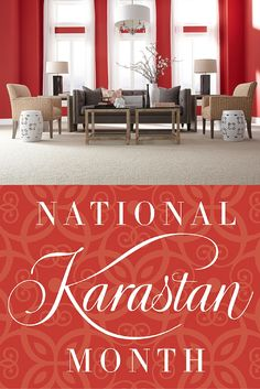 It's National Karastan Month! From April 23 - June 8, 2015, save on Karastan luxury carpets, including our new SmartStrand Forever Clean carpet. We're offering special rebates and financing at participating retailers, including $1,000 back! Visit your local retailer today and take advantage of this great sale to buy the carpet of your dreams!