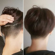 Ideas Haircut Pixie Korean For 2019 Tomboy Haircut, Tomboy Hairstyles, Fade Haircut, Hairstyles Haircuts, Haircut Short, Pixie Haircut, Asian Short Hair, Asian Hair, Haircuts For Long Hair