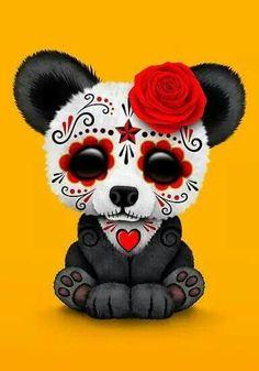 Sugar skull panda