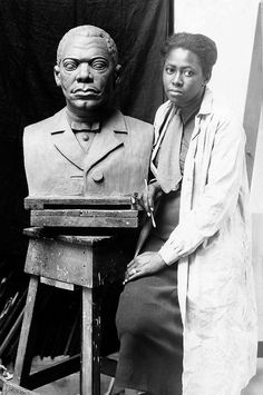 Selma Hortense Burke, sculptor, painter. Did relief portrait of Franklin Delano Roosevelt, which appears on dime.