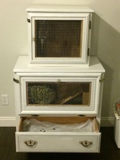Creative Ways To Make A Bunny Hutch Use Old Furniture