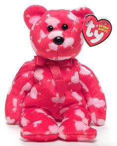 Cupid's Bow - Bear - Ty Beanie Babies