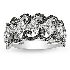 @Overstock - Black and white diamond ring  LOVE IT http://www.overstock.com/Jewelry-Watches/18k-Gold-1-1-5ct-TDW-Black-and-White-Diamond-Ring-G-H-SI1-SI2/5216766/product.html?CID=214117 $1,669.99