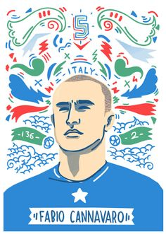 World Cup Portraits by Geo Law, via Behance