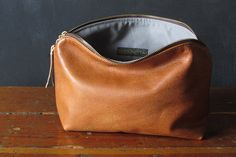 10-inch Zipper Pouch: eco leather.. $68.00, via Etsy.