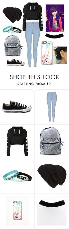 """""""Untitled #215"""" by princessa-dani ❤ liked on Polyvore featuring Converse, Topshop, Phase 3, Free People, women's clothing, women, female, woman, misses and juniors"""