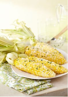 Fresh Corn with Lemon-Basil Parmesan Butter – Your hot corn on the cob will most definitely win in the best-dressed category if you brush it with this lemon-basil butter and some grated Parmesan cheese. Make this 10 minute side dish for your Labor Day party!