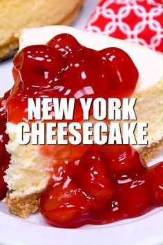 This New York Cheesecake is the best I've ever had! No cracking, no sinking top, no thick brown crust. A perfectly flat cheesecake that is tasty plain or with fruit! recipes new york videos New York Cheesecake Cheesecake Original, Plain Cheesecake, Fruit Cheesecake, Baked Cheesecake Recipe, Best Cheesecake, Homemade Cheesecake, Classic Cheesecake, Cheesecake Crust, Cherry Cheesecake Topping