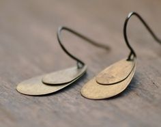 Antique teardrop double layered earrings... yes, please.