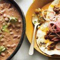 Roast Chicken with White Bean Stew and Pancetta - Bon Appétit