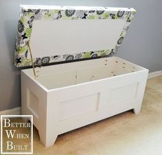 Diy Bench Seat Storage Creative DIY Storage Benches Outdoor Storage Bench Using A Kreg Jig Averie Lane . Build An Upholstered Storage Bench HGTV. Home Design Ideas Storage Bench Seating, Diy Bench Seat, Wooden Storage Bench, Crate Bench, Storage Bench With Cushion, Diy Toy Storage, Seat Storage, Office Storage, Storage Ideas