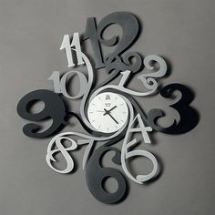 Made In Italy in Contemporary, Modern and Unusual Designs of Wall Clocks Made By Arti & Mestieri How To Make Wall Clock, Wall Clock Design, Snail, Arts And Crafts, Contemporary, Clocks, Watches, Children, Silver