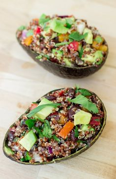Tex-Mex Quinoa Salad with Cumin Lime Vinaigrette. #quinoa #recipes