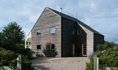 Monique and Laurence Steijger's super-insulated new eco-friendly timber frame house cost less than to build and requires no central heating. Model Village, Self Build Houses, Eco Homes, Concrete Houses, Residential Architecture, Cladding, Future House, Building A House, Outdoor Structures