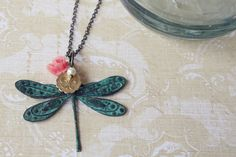 Fly dragonfly necklace from Girls Day by  $25.00