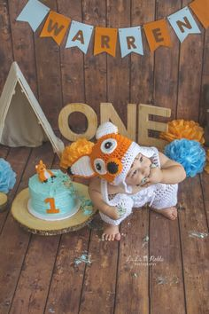 Baby's First Birthday Gifts, Boys First Birthday Party Ideas, Wild One Birthday Party, Baby Boy First Birthday, Birthday Boy Shirts, 1st Birthday Parties, Fox Party, Birthday Pictures, 1st Birthdays